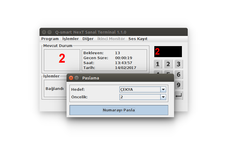 Q-smart Sıramatik Çağrı Terminali Paslama