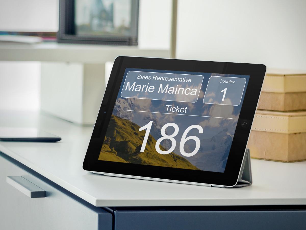 cloud queue management system tablet
