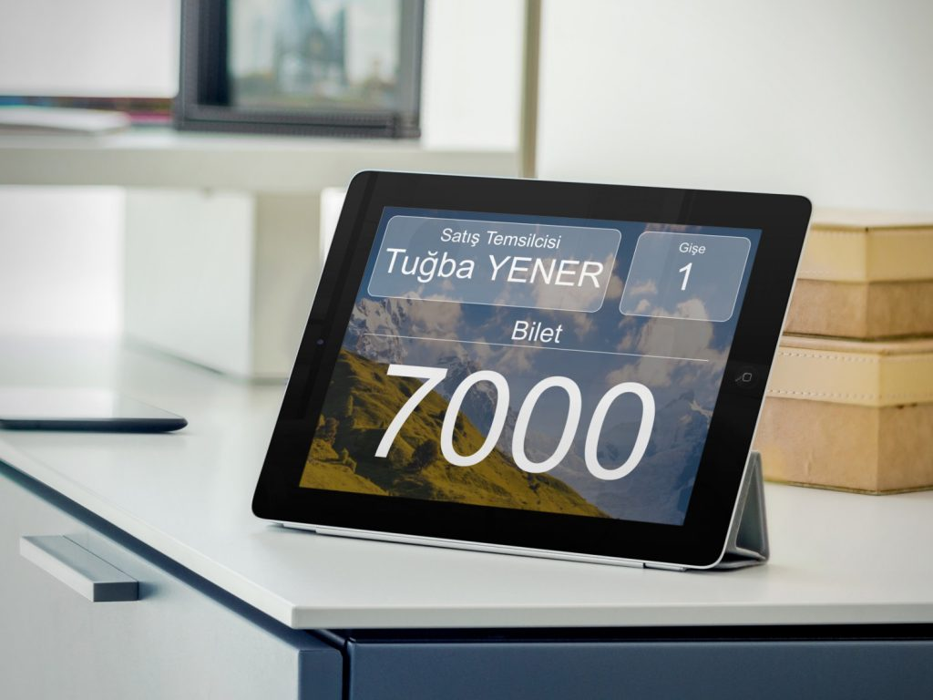 bulut kablosuz sıra sistemi masa tablet ekranı