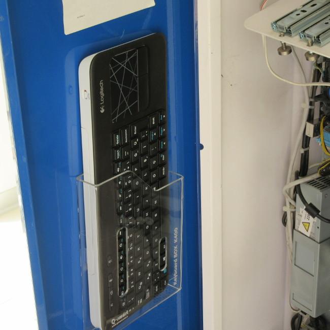k400 klavye rafı kiosk