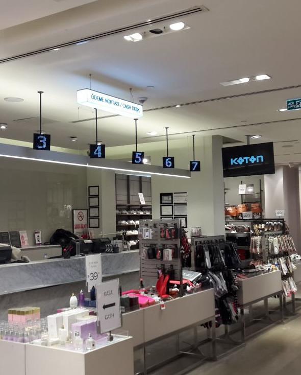 koton mağazaları kasa sıra sistemi