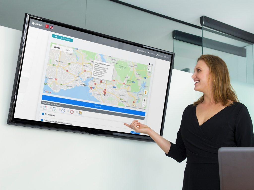 merkezi sira sistemi yonetimi harita google maps