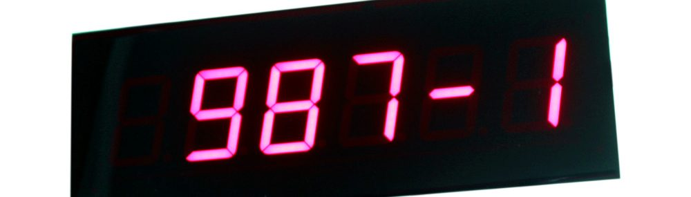7 segment sıramatik operatör gişe ekranı