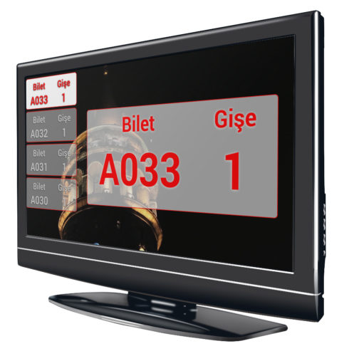 Digital Signage Sıramatik LCD TV Anapanel