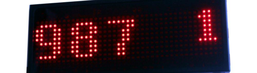 Matrix sıramatik LED operatör gişe ekranı