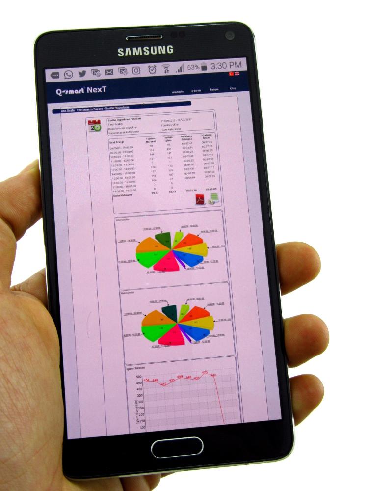 Q-smart Next Raporlama AKıllı Telefon