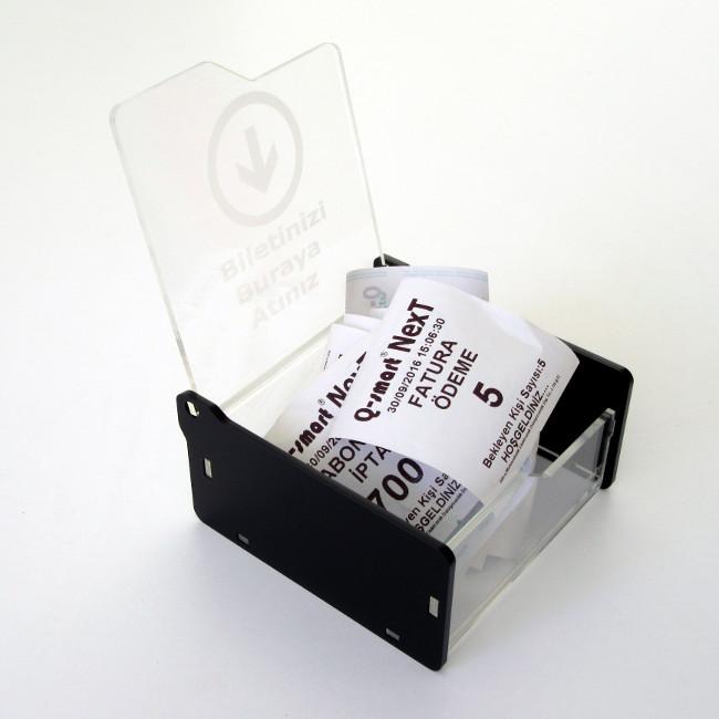bilet toplama kutusu siyah