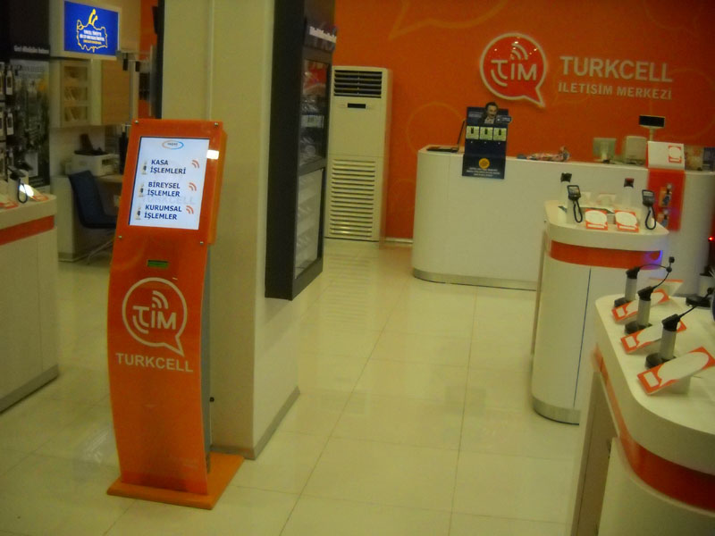 Turkcell Kiosk Sıramatik