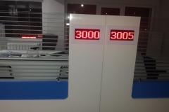 Halkbank sıra sistemi sıva altı ekran